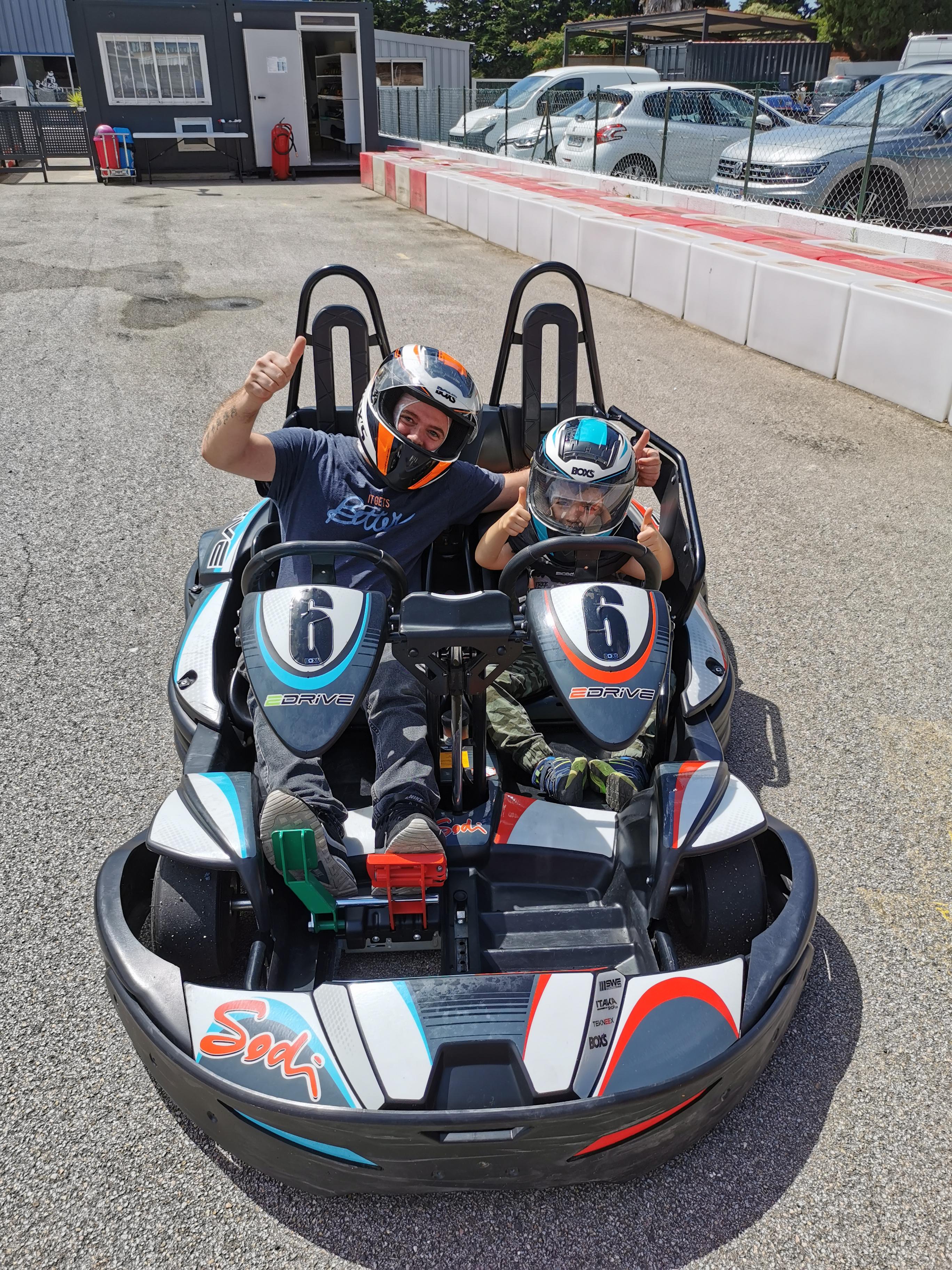 Kart bi-place, le karting familial pour s'éclater en duo