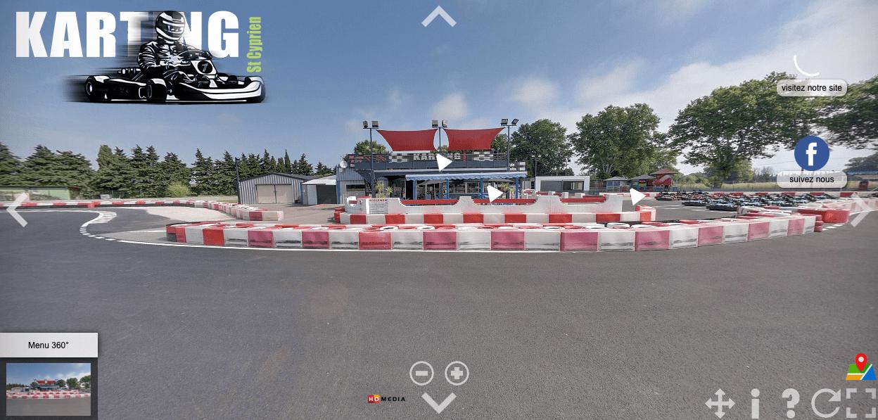 La visite virtuelle du Karting, ça vous dit ?